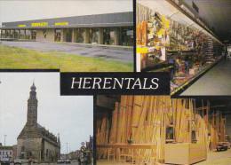 Grote Kaart HERENTALS Kempen Houthandel Vilpas Reclame - Herentals