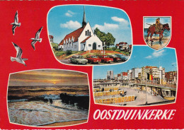 Grote Kaart Oostduinkerke Koksijde Groeten Uit Un Bonjour De Greetings From Grusse Aus Gekarteld - Koksijde