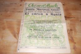 Asi Va El Mundo Revista De La Prensa Universal N°1 (1934) Primo De Revira, Port-Said, Foot-Ball, Al Capone, Turquia, Etc - Revues & Journaux