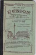 Petit Carnet PUB--assurance L´UNION---avec Calendrier 1934---voir 4 Scans - Petit Format : 1921-40