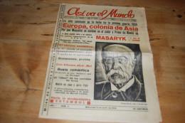 Asi Va El Mundo Revista De La Prensa Universal N°2 (1934) Primo De Revira, Mussolini, Masaryk, Madrid Istanbul Romanones - Revues & Journaux