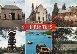 Groeten Uit Herentals Grote Kaart Kempen Albertkanaal Kanaal Binnenschip Peniche Barge - Herentals