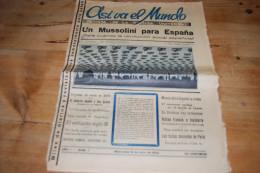 Asi Va El Mundo Revista De La Prensa Universal N°7 (1934) Soviet à Berlin L. Frapie Conga Japon Danses Dénudées De Paris - Revues & Journaux