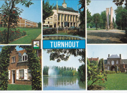 Grote Kaart Turnhout Groeten Uit Un Bonjour De Greetings From Grusse Aus - Turnhout