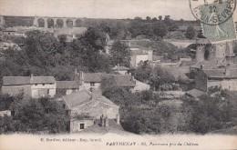 Cp , 79 , PARTHENAY , Panorama Pris Du Château - Parthenay