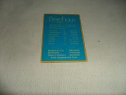 ANCIEN CALENDRIER DE POCHE  1988  / PUB   BERGHAUS  INTERN. FASHION GROUP - Calendriers
