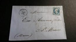 Napoléon III  N° 22 (Variété) Avec Oblitèration Losange 3103  TB - 1862 Napoleon III