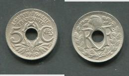5 CENTIMES LINDAUER GRAND MODULE 1919 TTB - France