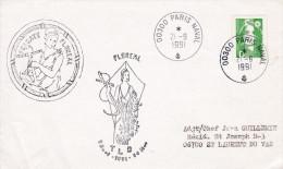 LETTRE  BATEAU FREGATE DE SURVEILLANCE  FLOREAL  TLD 21/9/1991 PARIS NAVAL Traversée Longue Durée - Naval Post