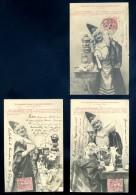 Lot De 3 Cpa Illustrateur Bergeret - Aux Grands Maux Les Grands Remèdes Par La Petite Albertine  FEV16 18 - Bergeret