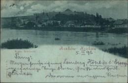 ! Alte Ansichtskarte, Mondscheinkarte, Krakau, Krakow, 1898, Polen, Poland, Pologne - Polen