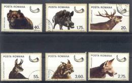 ROUMANIE COMPLETE SET YVERT NRS. 2979-83 ANIMAUX DE CHASSE ANIMALES DE CAZA TBE OBLITERES YEAR 1976 - 1948-.... Repúblicas