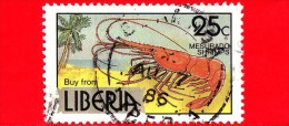 LIBERIA - Usato - 1981 - Industria E Commercio In Liberia - Crostacei - Mesurado Shrimp  - 25 - Liberia