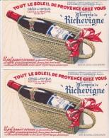 2 BUVARDS - COTES DU RHONE - MARQUIS DE RICHELIEU-S.RICHARD - Cie VILLEFRANCHE EN BEAUJOLAIS- - Liqueur & Bière