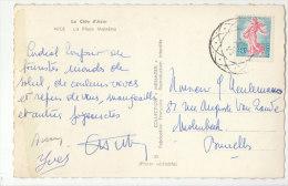 CP 0,20 Semeuse -> Belgique  Annulation Rosace De Bruxelles - Marcophilie (Lettres)