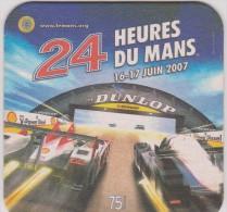 Sous  Bocks :  24  Heures  Du  Mans ( Le  Mans)  Voiture   ! Dunlop - Beer Mats