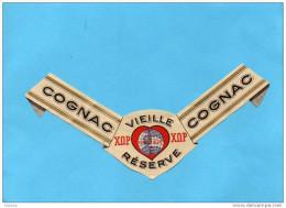 Alcoll-COGNAC-étiquette Entière Et Neuve De Col De Bouteille-cognac XOP  FABRICE &Cie - Etiquettes