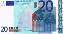 VF NOTA 20 EUROS DE PORTUGAL U001 C3  ASSINATURA W.D. UNC M 30159500512 - EURO