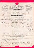 Lettre Facture De COLMAR Pour Le Val- D'AJOL. ( Griess  Fréres  Achats & Ventes è La COMMISSION ) En 1852 - Postmark Collection (Covers)