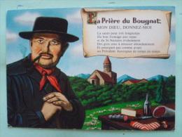 V08-68-A-dep 63-priere Du Bougnat--mon Dieu................................un President Auvergnat De Temps En Temps-- - Auvergne Types D'Auvergne