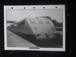 Fiches Techniques De  Locomotive Type,France 1933 / Autorail  Bugatte PLM ( Signe - Ettore Bugatti ) / Format: 18,5x25cm - Treni