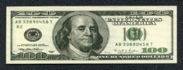 Imitation billet 100 dollars -  publicit�