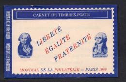 Carnet Mondial De La Philatelie 1989, Oblitéré Sur Porte- Timbre , Strasbourg, Guise, Paris, Ribemont., 2 Scans - Carnets