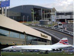 Heathrow (London) Airport (UK) Terminal 1 & 5 + Concorde British Airways - Aerodrome