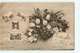 LE PEAGE DE ROUSSILLON -  Un Bouquet De Fleurs Et 4 Vues -  2 Scans - Roussillon