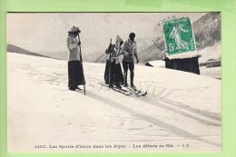 SPORTS D' HIVER - Débutants En Ski Sur Les Pistes - 2 Scans - Sports D'hiver