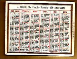 Calendrier Petit Format 1903 Ain Tremouchent Algérie Librairie Papeterie Andréo ... Pas Courant !! - Calendriers