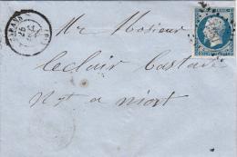 1860. LETTRE. N° 14. CHARENTE INFERIEURE MARANS PC 1860 / 6832 - 1849-1876: Période Classique