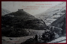 CPA-CERDAGNE FRANCAISE-PYRENEES ORIENTALES-66-CHATEAU DE CASTEL MORO ET ROUTE DE PORTE A LA DESCENTE DE PUYMORENS-N°335 - Autres Communes