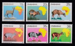 ZIMBABWE, 1988, MNH Stamps, Animals, Mi 368-383,   , #5097 - Zimbabwe (1980-...)