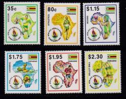 ZIMBABWE, 1995, MNH Stamps, African Sports, Mi 558-563  , #5180 - Zimbabwe (1980-...)