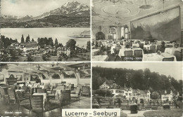 MULTI VIEW OF HOTEL SEEBURG, LUCERNE, LU, SWITZERLAND. - LU Lucerne