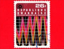 RWANDA  - Usato - 1975 - Anno Mondiale Della Popolazione - Grafico Ed Emblema - 26 - Rwanda