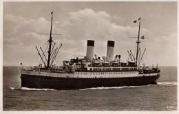 """CPA - ALLEMAGNE - Bateau - M.S. """"Monte Sarmiento"""" Zweischrauben-Motorschiff - 160 M. - Navire à Moteur - 7000 Ps. - Ferries"""