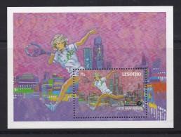 LESOTHO, 1988, MNH Block/stamps, Tennis Steffi Graf,  Mi Bl 56, #1756 - Lesotho (1966-...)