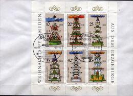 DDR 1987 - Beleg MiNr: 3134-3139 Kleinbogen  SStmp. - [6] Democratic Republic