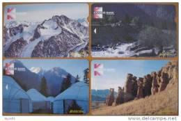 FIRST (!) Phonecards From KYRGYZSTAN Kirgisistan Kirghizistan Magnetic, ALCATEL, Mint! Landscape Paysage Landschaft