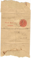 ARGENTINA - Wrapper - 1/2 Centavo + 1 Missed Stamp - Intero Postale - Entier Postal - Postal Stationery - Viaggiata D... - Interi Postali
