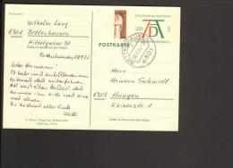 BRD 1971 Ganzsache Wertstempel A.Dürer  Mit Halbierter 10 Pfg.Heinemann-Marke, Unbeanstandet Verwendet 2 Bilder - [7] République Fédérale