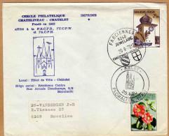 Enveloppe Brief Cover Cercle Philatélique Chatelineau Chatelet Jumelage Farciennes Beaucaire Aalst à Roselies - Belgique