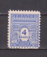 FRANCE / 1944 / Y&T N° 627 ** : Arc De Triomphe Unicolore 4F Bleu - Gomme D´origine Intacte - Unused Stamps
