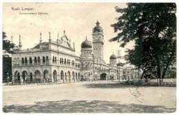 Malaysia. Malaisie. Kuala Lumpur. Government Offices. Stamp: Medan (Sumatra) 1923. Malay Peninsula. - Malasia