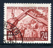 DDR 1953 Leipzig Autumn Fair 24 Pf. Postally Used.  Michel 380  €6 - Used Stamps
