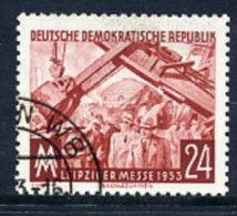 DDR 1953 Leipzig Autumn Fair 24 Pf. Postally Used.  Michel 380  €6 - [6] Democratic Republic