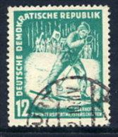 DDR 1952  Winter Sports 12 Pf. Postally Used.  Michel 298  €8 - [6] Democratic Republic