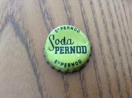 """Ancienne Capsule de soda (rare) """"ETS PERNOD - Soda PERNOD"""" (int�rieur li�ge)"""